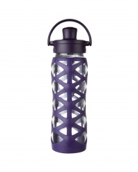 Lifefactory 22 oz Glass Bottle with Active Flip Cap - Aubergine