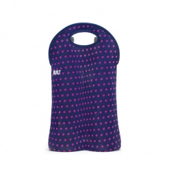 Two Bottle Tote New Big Dot Navy