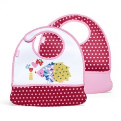 Mess Mate: Toddler Bib (Set of 2) Baby Pink Mini Dots