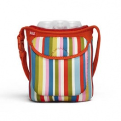 Bottle Buddy: Three Bottle Tote Baby Pink Stripe