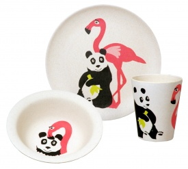 HUNGRY KIDS SET - FLAMINGO set/3