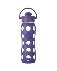Lifefactory 22 oz Glass Bottle with Flip Cap - Royal Purple