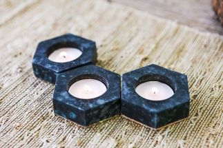 Soapstone Tea Light Holder - Soapstone (S/3)
