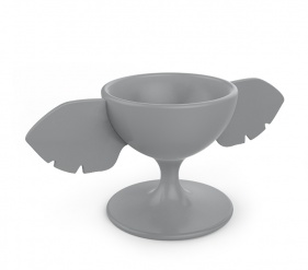 ZOO Egg cup elephant Gris