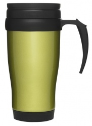 Car mug/thermal mug, green