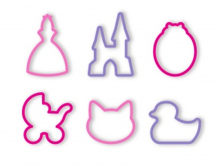 Cookie Cutters For Girls, 6 Pcs Delicia Kids