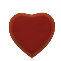 CUPIDO HEART TRAY RED CM 28X28 GB