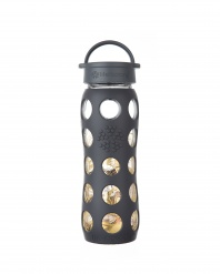 Lifefactory 22 oz Glass Bottle with Fused 24 carat Gold - Onyx Organic