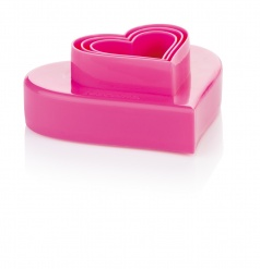 Double-Sided Cookie Cutters Hearts, 6 Sizes Delicia
