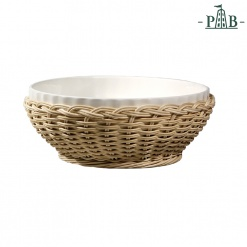 WICKER FOR PIEVE RIBBED BOWL cm 26