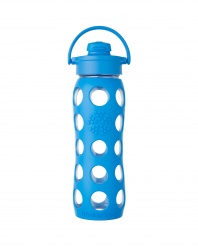 Lifefactory 22 oz Glass Bottle with Flip Cap - Ocean