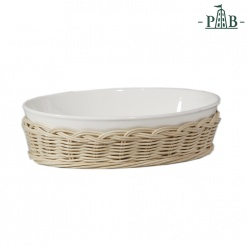 Wicker For Oval Bakdish Cm 23,5X17,5X6,5