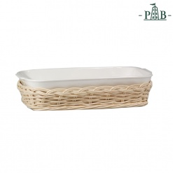 WICKER FOR ANGHIARI BAKING DISHcm30x24