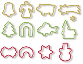 Christmas Cookie Cutters, 13 Pcs Delicia