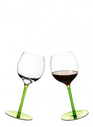 Rocking wine glass, 2-pack, green