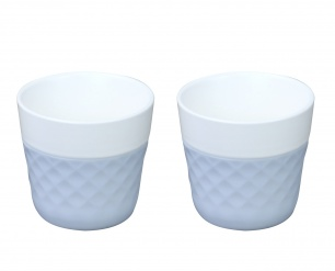 Lola 2 porcelaine coffee cups - blue