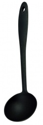 WHAT'S COOKING SOUP LADLE BLACK
