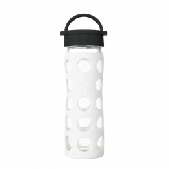 Lifefactory 16 oz Glass Bottle Core 2.0 - Arctic White