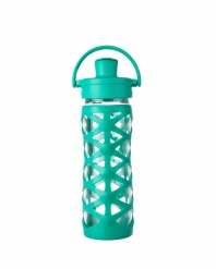 Lifefactory 16 oz Glass Bottle with Active Flip Cap - Aquatic Green