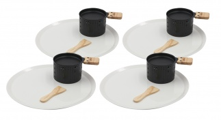 LUMI - Raclette cheese individual set for 4 with plates