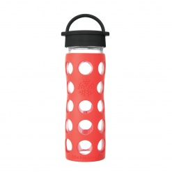 Lifefactory 16 oz Glass Bottle Core 2.0 - Poppy