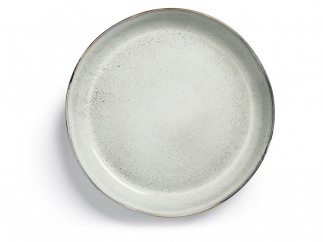 Nature serving plate light grey