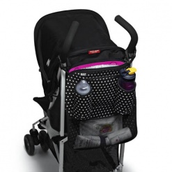 Day Tripper: Stroller Organizer Mini Dot Black & White Xxx