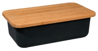 SAVE MY BREAD breadbin+cuttingboard Black