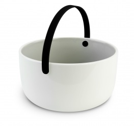 Promenade - Ceramic bowl diam 15 cm with handle - black