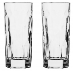 Club tumbler highball glasses, 2-pack