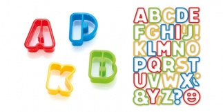 Cookie cutters alphabet DELICIA KIDS, 34 pcs