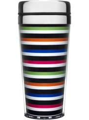 Car mug, striped