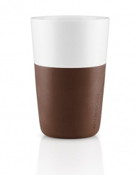 Caffe latte tumbler set of 2 - coffee brown