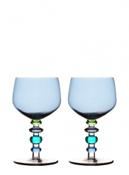 Spectra wine glass, 2-pack, blue/green