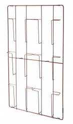 FRAME-6 magazine wallrack Copper