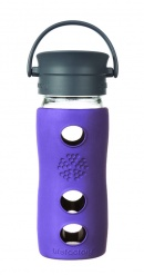 Lifefactory 12oz Glass Travel Mug  with Cafe Cap - Violet