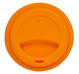 Silicone lid take away orange