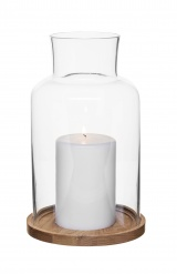Oval oak candleholder, medium
