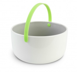 Promenade - Ceramic bowl diam 15 cm with handle - green