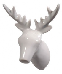 Dear Deer Coat Hook Wh