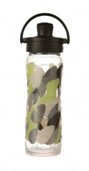 16oz/475ml Glass Bottle with Active Flip Cap - Green Envy