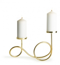Loop candle holder