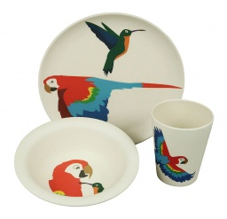 HUNGRY KIDS SET - PARROT set/3