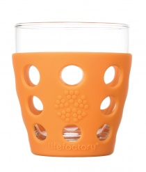 Lifefactory 10oz Beverage Glass - 2pk - Orange