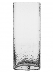 Siluett vase high, clear