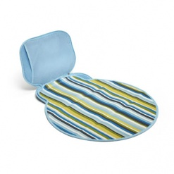 Diaper Buddy: Changing Pad Baby Blue Stripe