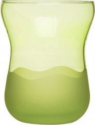 Aqua wave vase light green