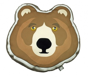 CUSHION Brown Bear