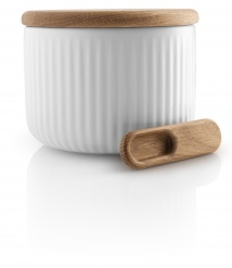 Eva Trio Legio Nova salt cellar with lid and spoon