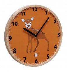 WALLCLOCK Baby Deer